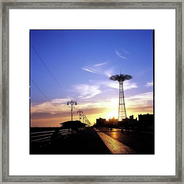 New York, Coney Island, Parachute Jump Framed Print