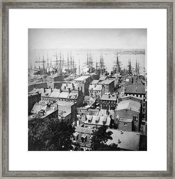 New York Harbour Framed Print