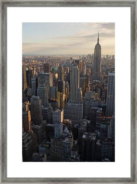New York Just Before Sunset Framed Print
