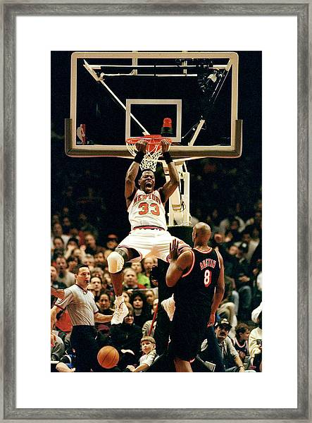 New York Knicks Patrick Ewing Does A Framed Print