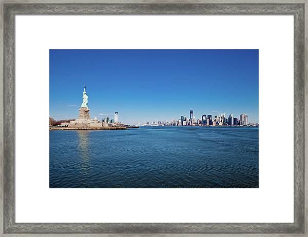 New York On Sunny Day Framed Print