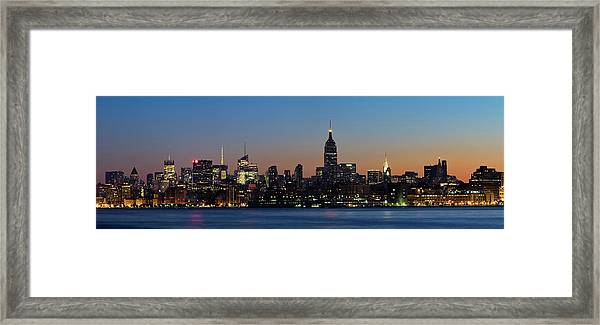 New York - Panoramic View Of Midtown Framed Print