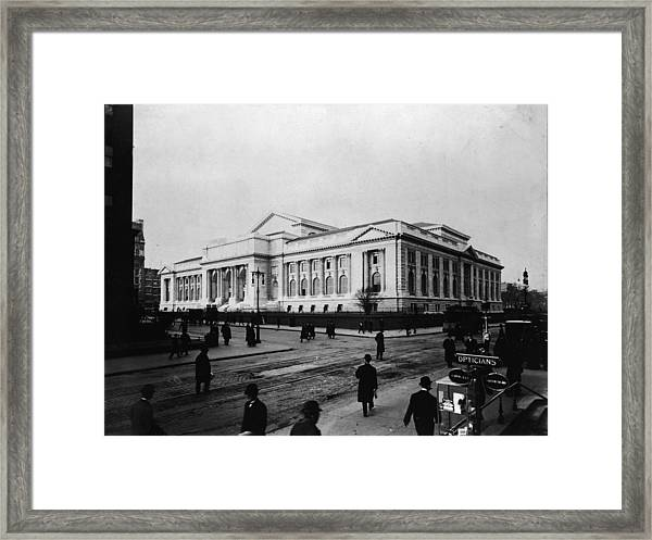 New York Public Library Main Branch Framed Print