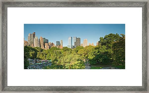 New York Skyline Central Park Framed Print