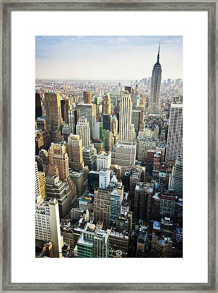 New York Skyline Summertime View Framed Print