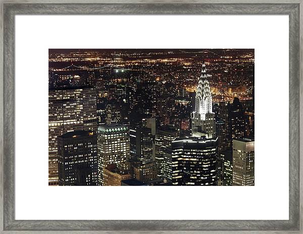 New York Skyscraper And Chrysler Framed Print