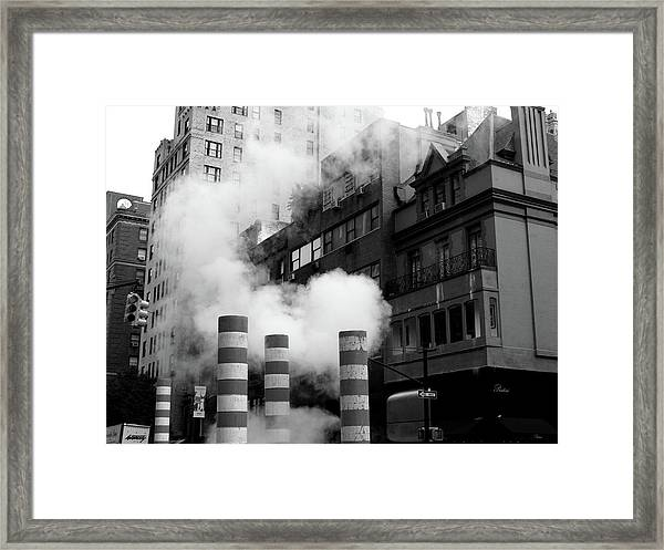 New York, Steam Framed Print