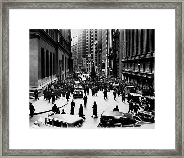 New York Stock Exchange Glee Club Sings Framed Print