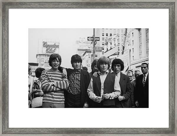 New York Stones Framed Print