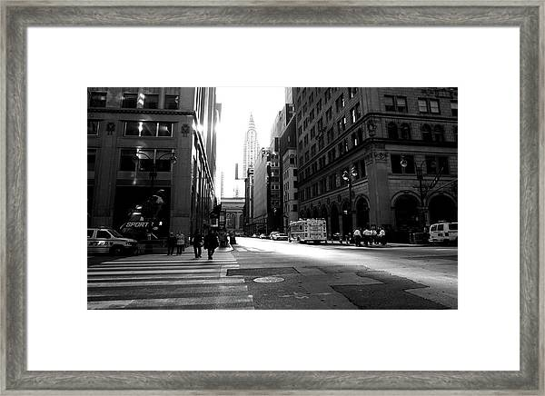 New York, Street Framed Print