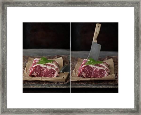 New York Strip Steak Framed Print