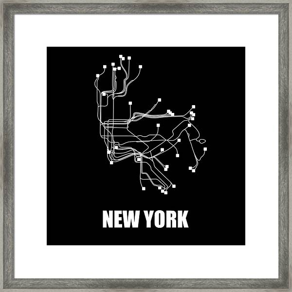 Framed New York Subway Map.New York City Map Framed Art Prints Fine Art America