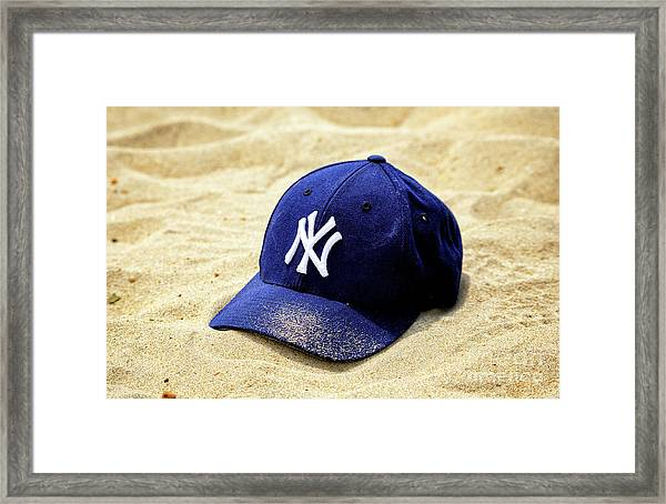New York Yankees Beach Cap Framed Print