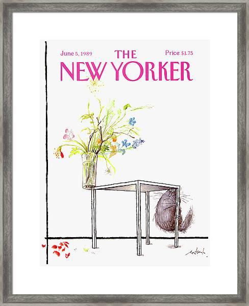 New Yorker Cover June 5 1989 Framed Print