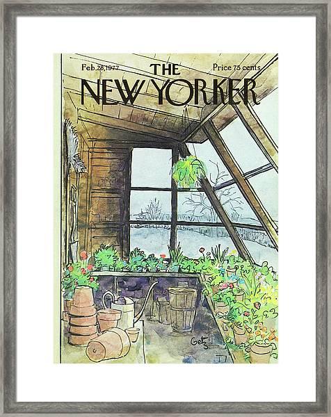 New Yorker February 28th 1977 Framed Print