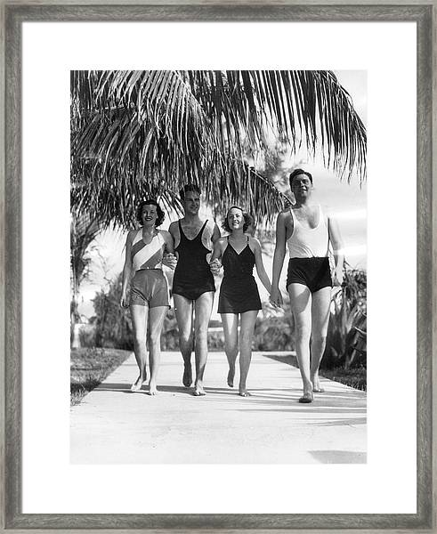 New Yorkers In Bermuda, 1932 Framed Print