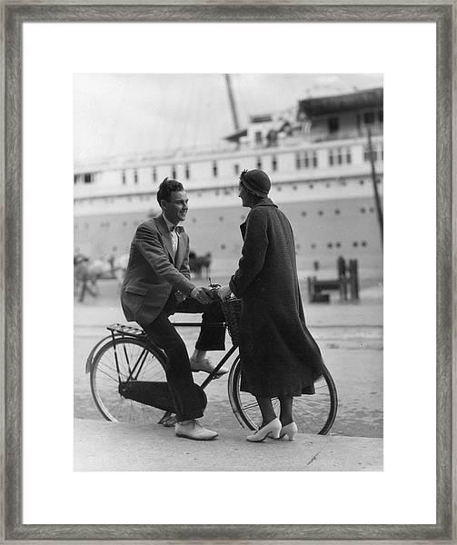 New Yorkers In Bermuda Framed Print
