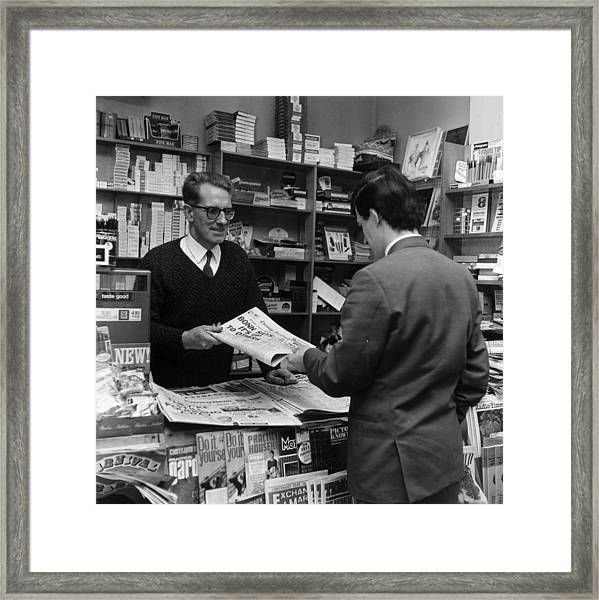 Newsagents Framed Print by Evening Standard