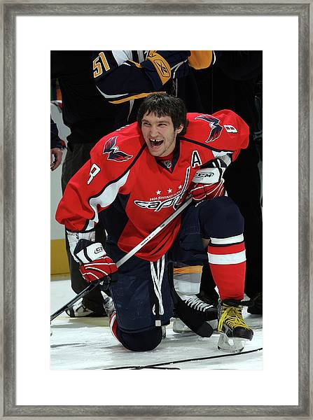 Nhl All-star Dodgenhl Superskills Framed Print by Bruce Bennett