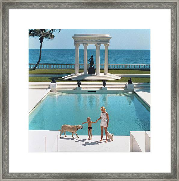 Nice Pool Framed Print by Slim Aarons