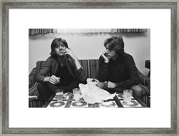 Nick Lowe & Dave Edmunds Portrait Framed Print