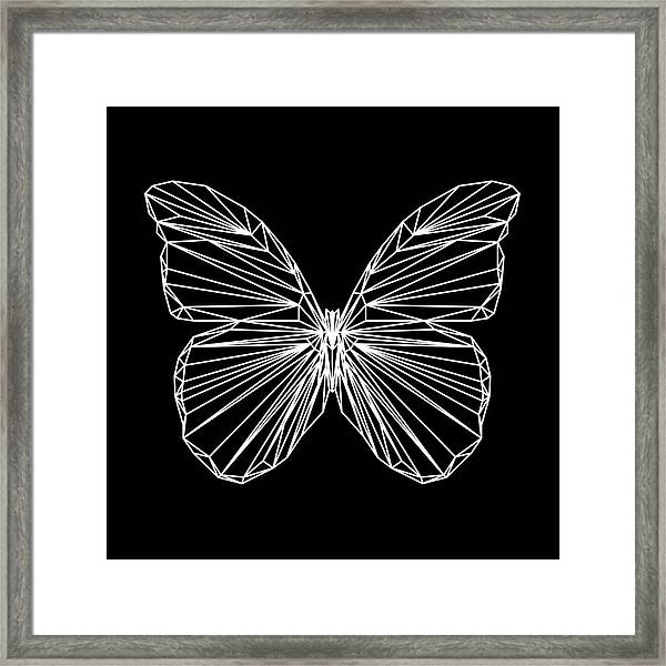Night Batterfly Framed Print