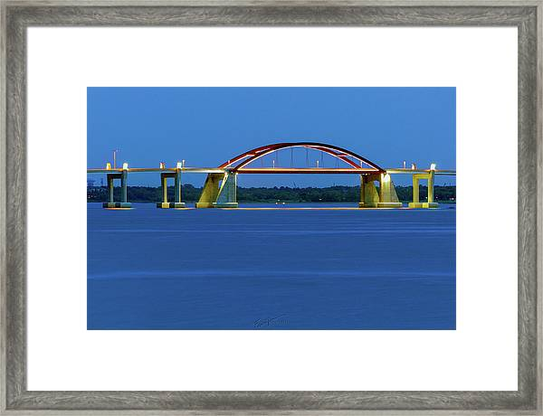 Night Bridge Framed Print