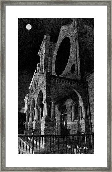 Night Church Framed Print