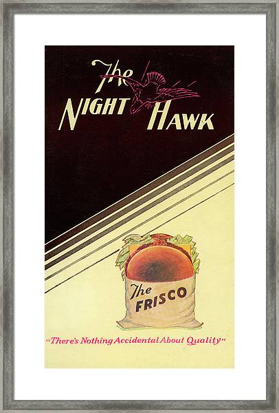 Night Hawk, The Framed Print