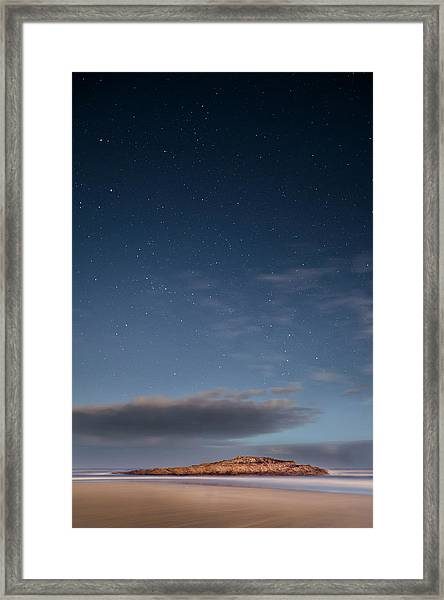 Night On The Beach Framed Print