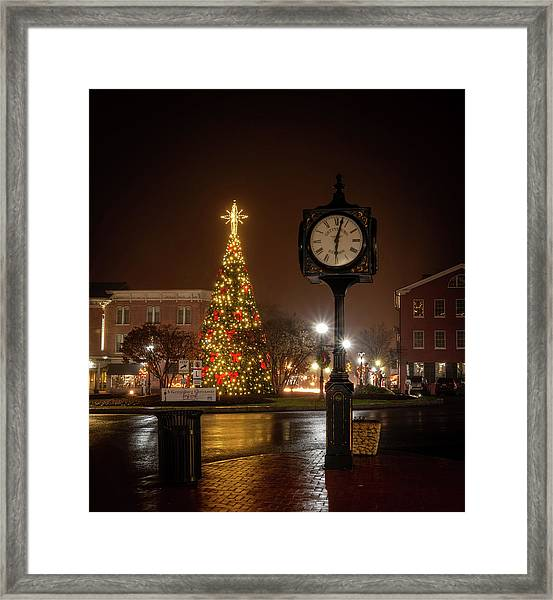 Night On The Square Framed Print