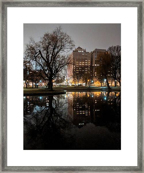 Night Reflection Framed Print