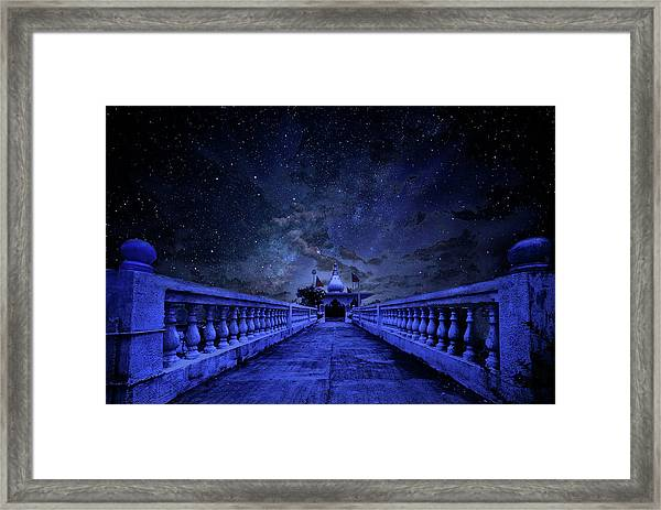 Night Sky Over The Temple Framed Print