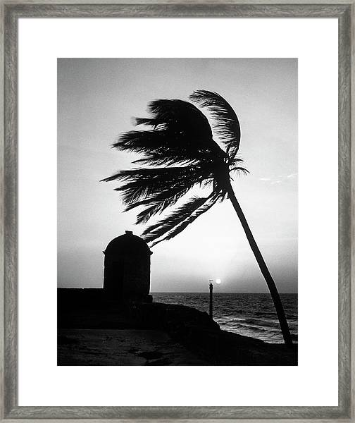 Night View Of San Felipe Fort Framed Print by Dmitri Kessel
