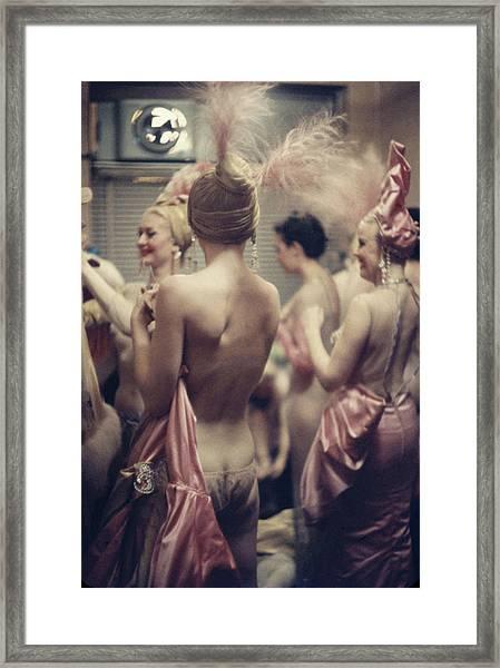 Nightclub Showgirls Framed Print