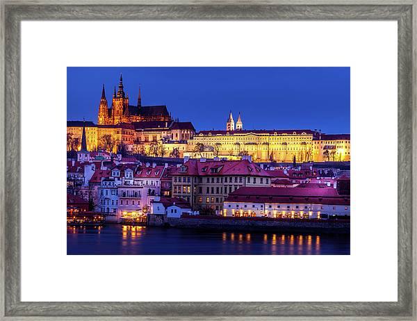 Nightfall Over Prague Framed Print by Andrew Soundarajan