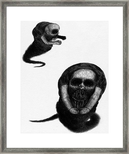 Nightmare Chewer - Artwork Framed Print