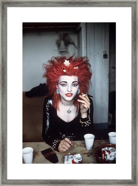 Nina Hagen Portrait Framed Print by Donaldson Collection