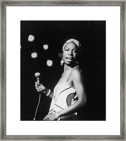 Nina In Concert Framed Print