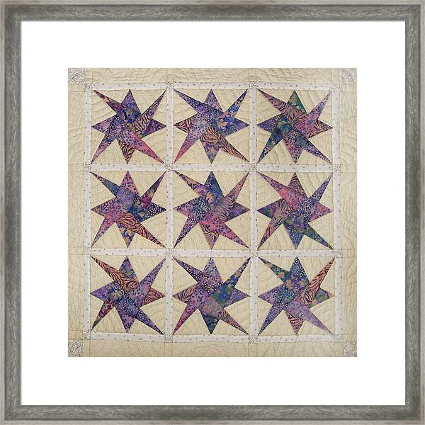 Nine Stars Dipping Their Toes In The Sea Sending Ripples To The Shore Framed Print