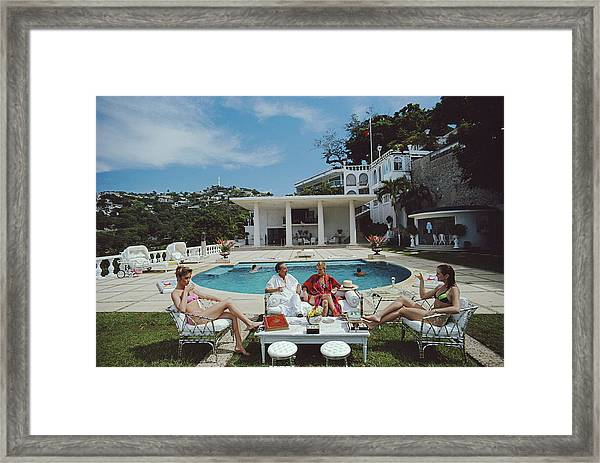 Nirvana Quartet Framed Print by Slim Aarons