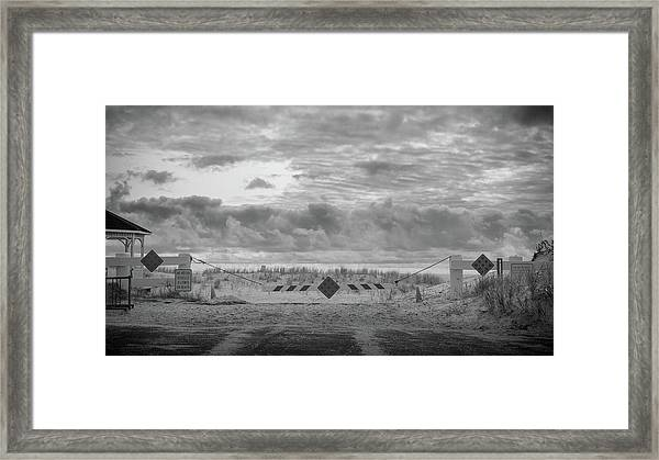 Framed Print featuring the photograph No Vehicles by Steve Stanger