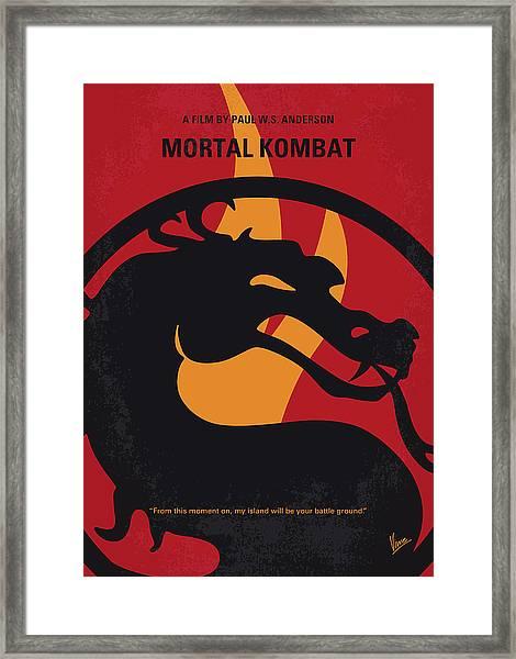No1005 My Mortal Kombat Minimal Movie Poster Framed Print