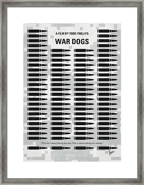 No1032 My War Dogs Minimal Movie Poster Framed Print