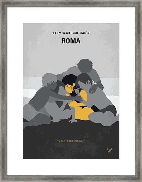 No1035 My Roma Minimal Movie Poster Framed Print