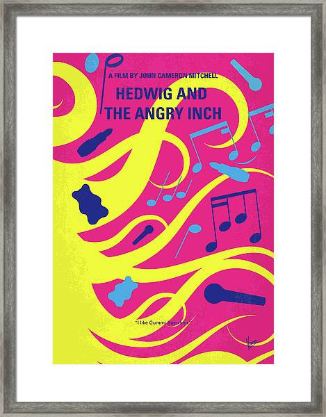 No1046 My Hedwig And The Angry Inch Minimal Movie Poster Framed Print