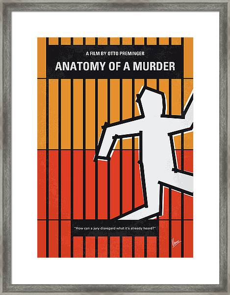 No1054 My Anatomy Of A Murder Minimal Movie Poster Framed Print