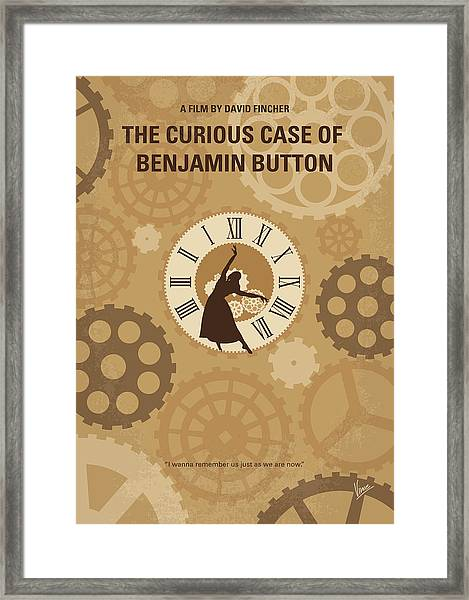 No1068 My Curious Case Of Benjamin Button Minimal Movie Poster Framed Print