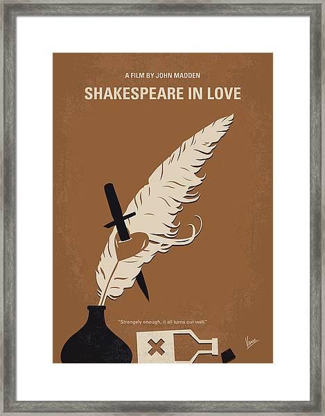 No1071 My Shakespeare In Love Minimal Movie Poster Framed Print