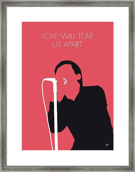 No212 My Joy Division Minimal Music Poster Framed Print